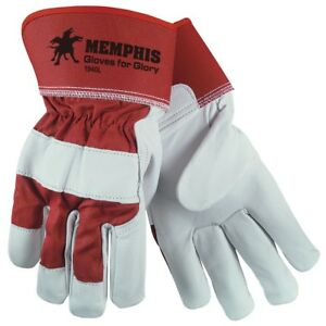 1 Dozen Memphis Goatskin Leather Palm Work Gloves Large