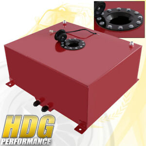 80 Liter 21 Gallon Red Aluminum Fuel Cell Tank W Black Cap Track Upgrade