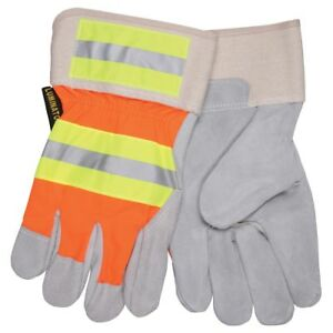 1 Dozen Memphis Luminator Grade A Leather Work Gloves Large