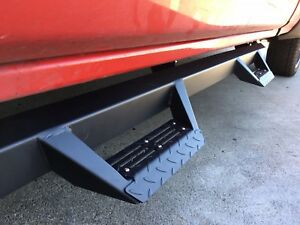 07 18 Silverado Sierra Crew Cab Texture Blk Nerf Bars Side Steps Running Boards