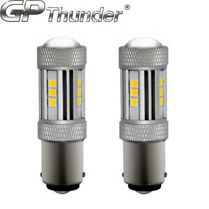 2x 1200 Lumens 1156 50w High Power Chip Led White Turn Signal Tail Light Bulbs