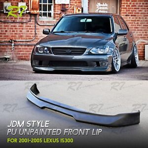 For 01 05 Lexus Is300 Unpainted Gd Grdy Style Pu Front Bumper Lip Spoiler Wing