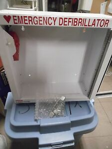 Aed Cabinet W alarm 200900 Modern Metal Products Wall Mounted Emergency