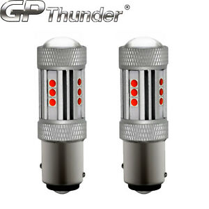 2x 1200 Lumens 1157 50w High Power Chip Led Red Turn Signal Tail Lights Bulbs