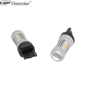 2x 1200 Lumens 7440 50w High Power Chip Led Amber Turn Signal Tail Lights Bulbs