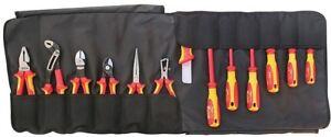 Electricians Insulated Tool Set 13 piece 1000 volt Professional In Storage Roll