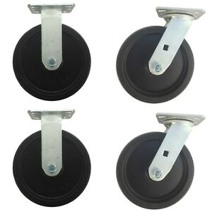 Usa Kc Set Of 4 7 5 X 2 2 Swivel 2 Ridge Casters Phenolic Wheel