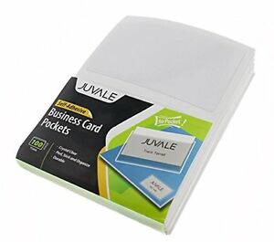 Business Card Plastic Sleeves Self Adhesive Poly Pockets Peel And Stick Top