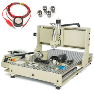 New 2 2kw Cnc Router Engravering Cutting Machine For Wood Acrylic Mdf Rs 6090gz