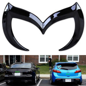 For Mazda 3d Metal Black Bat Batman Front Rear M Emblem Logo Badge Sticker Decal