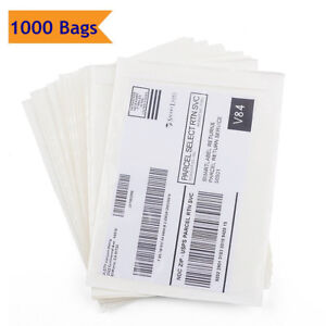 1000 6 x9 Clear Adhesive Packing List Pouches Shipping Label Enclosed Envelopes