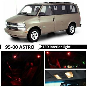 18x Red Interior Map Dome Door Led Light Package Kit Fit 1995 2005 Chevy Astro