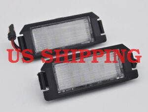 2x White Led Smd License Plate Lights For Hyundai Veloster Genesis 2d Kia Soul