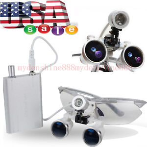 2018 Dental Surgical Magnification 3 5 Binocular Loupes Glasses Led Head Light