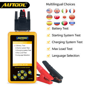 Autool Bt460 Battery Tester Lead Acid Agm Gel Battery Analyzer For 12 24v Car Us