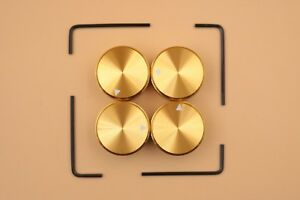 10pcs Gold Aluminum 30 17 6mm Knob Cap For Potentiometer Audio Equipment
