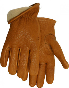 American Made Buffalo Leather Vellux Lined Work Gloves 650v Size Medium