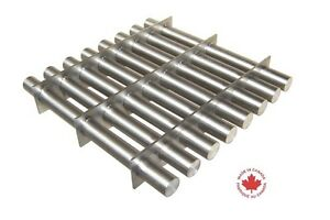 Industrial 12 Square Magnetic Hopper Grate With Rare Earth Magnets S12 500n