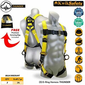 Fall Protection Safety Harness Roofing Tool Equipment Carpenter Constraction