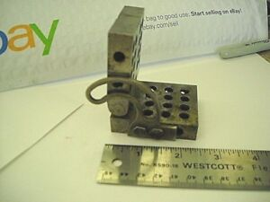 Vintage Hinged Adjustable Block Unbranded Machinist Workholding inspection Tool