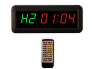 Eu 1 5 6 Digits Interval Timer Programmable Led Countdown Up Stopwatch For Ho
