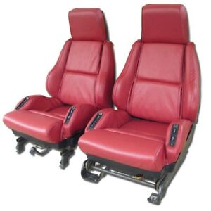 1984 1988 Corvette Leather Sport Seat Covers New