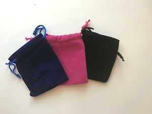 Wholesale Lot 250 Pcs Velvet Drawstring Jewelry Packaging Pouches Gift Bag