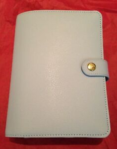 New Nib Kikki K Medium Personal Planner Light Blue Mint With Stickers Inserts