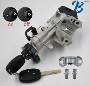 New Ignition Switch Cylinder Lock Auto Trans 2 Key Fit For 06 11 Honda Civic