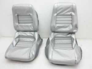 Corvette New Clam Shell Leather Seat Cover Full Car Set Silver 1978 Pace Car