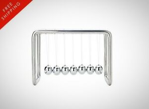 7 Balls Newtons Cradle Stainless Steel Strings Office Stainless Steel String