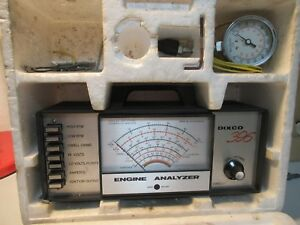 Dixco 396 Bench Top Engine Analyzer W Compression Gauge Booklets Incomplete