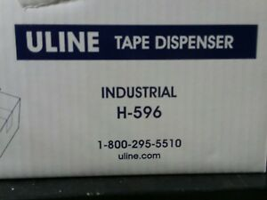 New Uline H 596 Packing Tape Dispenser Gun 3 inch Side Load Free Shipping