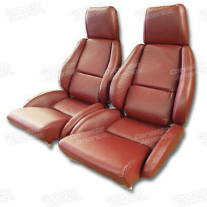 1984 1988 Corvette 100 Leather Standard Seat Covers Mounted On New Foam