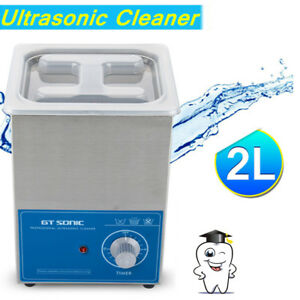 2l Liter Ultrasonic Cleaner Timer Stainless Steel Cleaning Jewellery Watch Glass