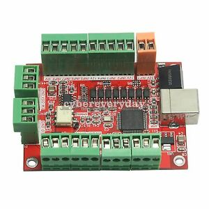 4 Axis Driver Motion Control Cnc Mach3 100khz Breakout Board F Stepper Motor Us