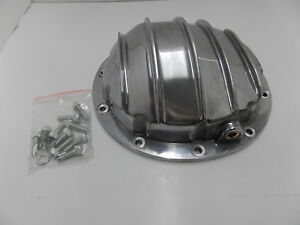 Gm Chevy 10 Bolt Polished Aluminum Rear Differential Cover 8 5 Ring Gear