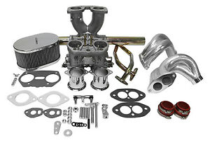 Dual Port Single 40mm Carburetor Kit Idf Weber Copy Vw Type1 With End Casting