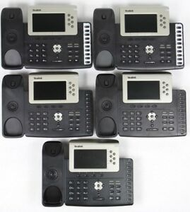 Lot Of 5 Yealink Sip t38g Gigabit Color Ip Office Phones