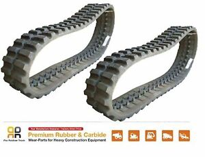 2pc Rubber Track 450x100x50 Takeuchi Tl12 Tl150 Tl250 Skid Steer