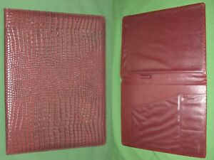 Note Pad 8 5x11 Red Reptile Leather Buxton Planner Binder Franklin Covey Monarch