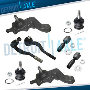 1995 1996 1997 1998 Tacoma 4wd Upper Lower Ball Joint Inner Outer Tierod Kit