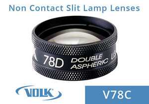 Volk 78d Clear Double Aspheric Lens Black Ring With Case V78c