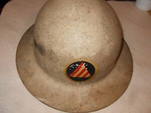 Vintage Steel Skullgard Full Brim Hard Hat Mine Safety ironworker construction