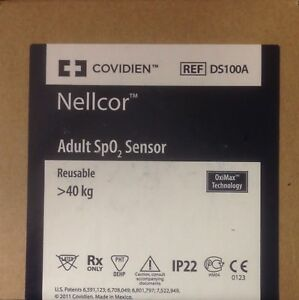 Covidien Nellcor Ds100a Adult Finger Clip Spo2 Sensor New In Original Box