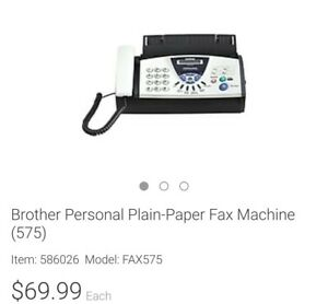 Brother Personal Plain paper Fax Machine Model 575 with Manufacturer s Warranty