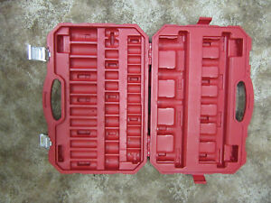 Craftsman Molded 48pc Impact Socket Case Organizer For Deep Shallow No Tools