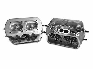 New Pair Vw 1600 Dual Port Cylinder Heads W Dual Springs 94mm Bore