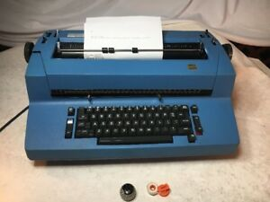 Blue 70s Ibm Correcting Selectric Ii Electric Typewriter works Great
