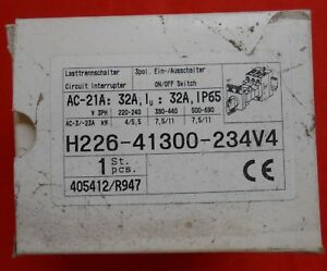 Salzer H408 41300 234v4 Circuit Interrupter On Off Switch 3ph 220 240 80a New